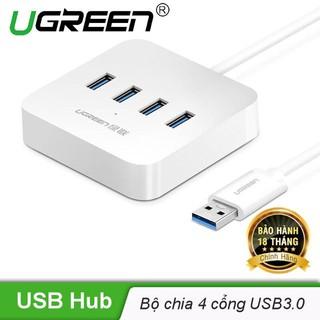 Bộ chia USB 3.0 ra 4 cổng hỗ trợ nguồn DC 5V/2A tốc độ 5Gbps độ dài 1.5m UGREEN CR118 30221