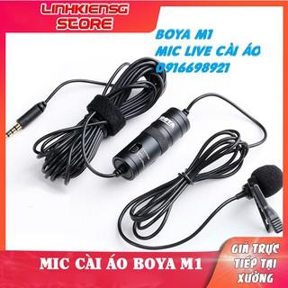 Micro Ghi Âm Cài Áo Boya BY M1 LIVE LIVESTREAM