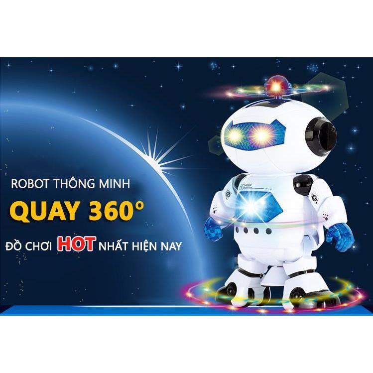 Đồ chơi Rô bốt thông minh biết nhảy phát sáng có nhạc xoay 360 độ - 2819000 , 486165966 , 322_486165966 , 85000 , Do-choi-Ro-bot-thong-minh-biet-nhay-phat-sang-co-nhac-xoay-360-do-322_486165966 , shopee.vn , Đồ chơi Rô bốt thông minh biết nhảy phát sáng có nhạc xoay 360 độ