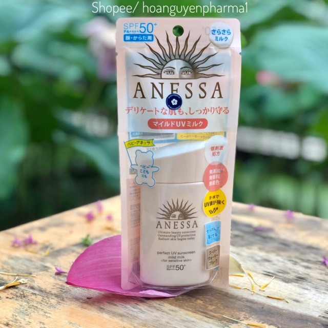 Sữa chống nắng Anessa cho da nhạy cảm Mild Milk For Sensitive Skin