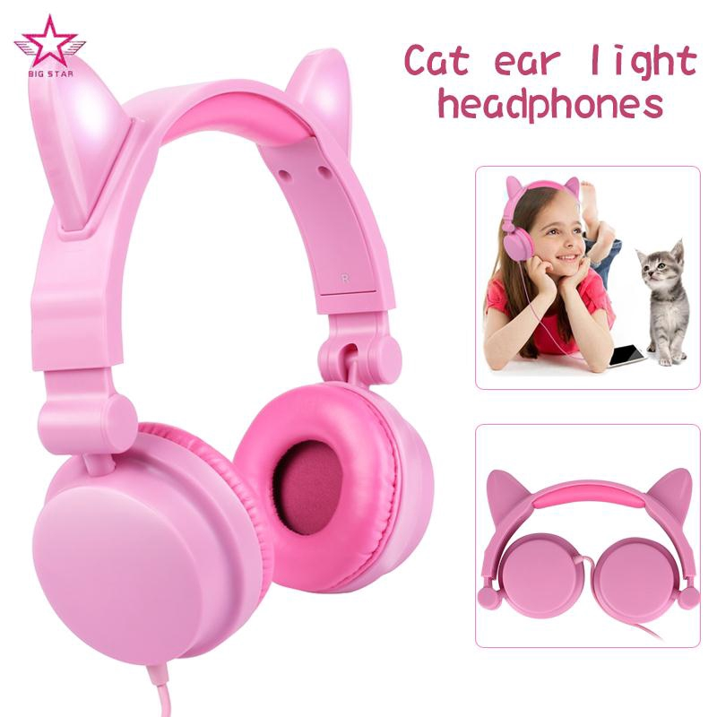 Cat Ears Headphone Over-Ear Headband Receiver Headset Live Broadcast Noise Reduction Rechargeable Giá chỉ 415.920₫