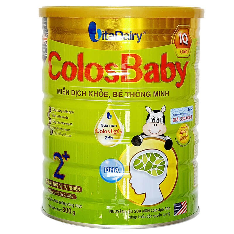 Sữa non ColosBaby IQ Gold số 2+ lon 800g