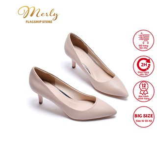 Giày gót thấp bít mũi Merly 1200