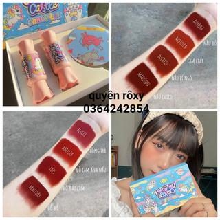 [ CHUẨN HÃNG ] set son kẹo candy lab tặng kèm gương mini | UNICORN castle