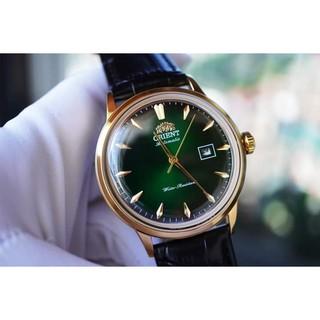 Đồng hồ nam Orie Bambino Gen 1 FAC00002W0 mặt xanh viền vàng hồng case 40.5mm. 3atm