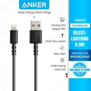Cáp sạc ANKER PowerLine Select+ Lightning dài 0.9m - A8012 thumbnail