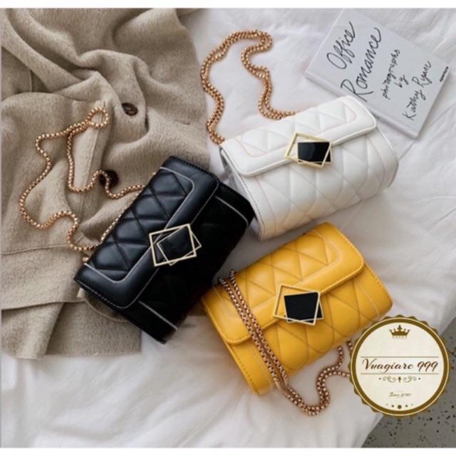 Túi xách đeo chéo trần trám KHOÁ GƯƠNG DC74