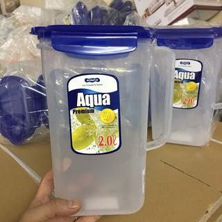Bình Nước Nhựa Rỗng Aqua Komax Hàn Quốc loại 2L, 1,3L chịu nhiệt độ từ -20 độ C đến 95 độ C