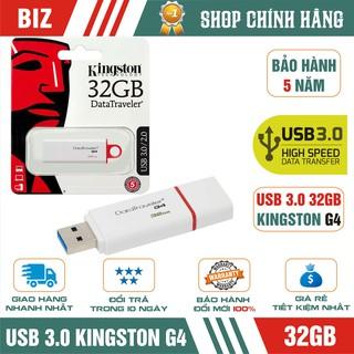 [Mã ELFLASH5 giảm 20K đơn 50K] USB 3.0 32GB Kingston DataTraveler G4 - Bảo hành 5 năm