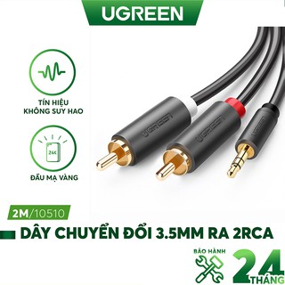 Dây chuyển đổi 3.5mm ra 2RCA (HOA SEN) dài từ 1-10m UGREEN AV102