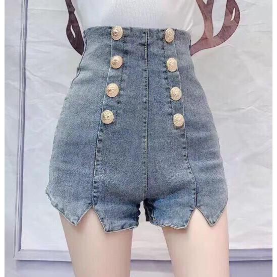 Quần sort jean nút lưng cao Form lưng cao chuẩn đét, mặc áo nào cũng xênh nha. Mix ti tỉ...