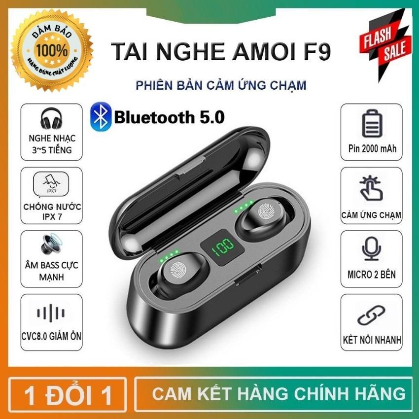 Tai nghe Bluetooth AMOI F9 - Bản Quốc Tế 2020 - Pin Sạc 2000mah