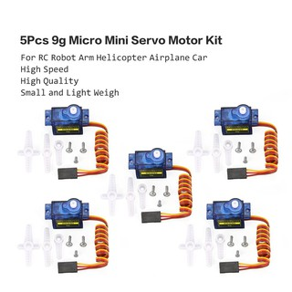 5Pcs 9g Micro Mini Servo Motor Horns for RC Robot Arm Helicopter Airplane Car