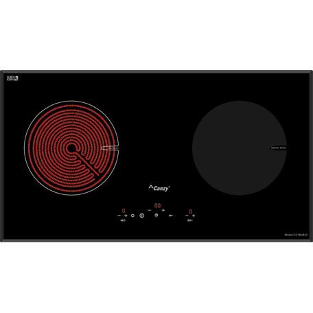 Bếp điện từ Canzy CZ MIX823 nhập khẩu Tây Ban Nha, Bếp đôi 1 từ + 1 hồng ngoại
