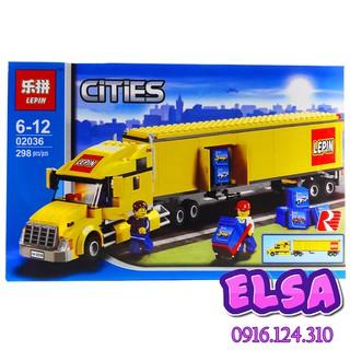 Bộ Lego xếp hình Ninjago City Xe Container Vàng. Gồm 298 chi tiết. Lego Ninjago Lắp Ráp Đồ Chơi Cho Bé.