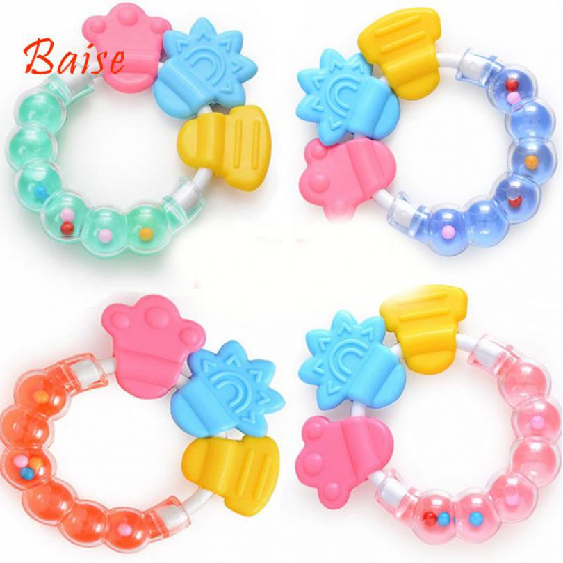 Baise Bé răng silicone hàm rattle teether
