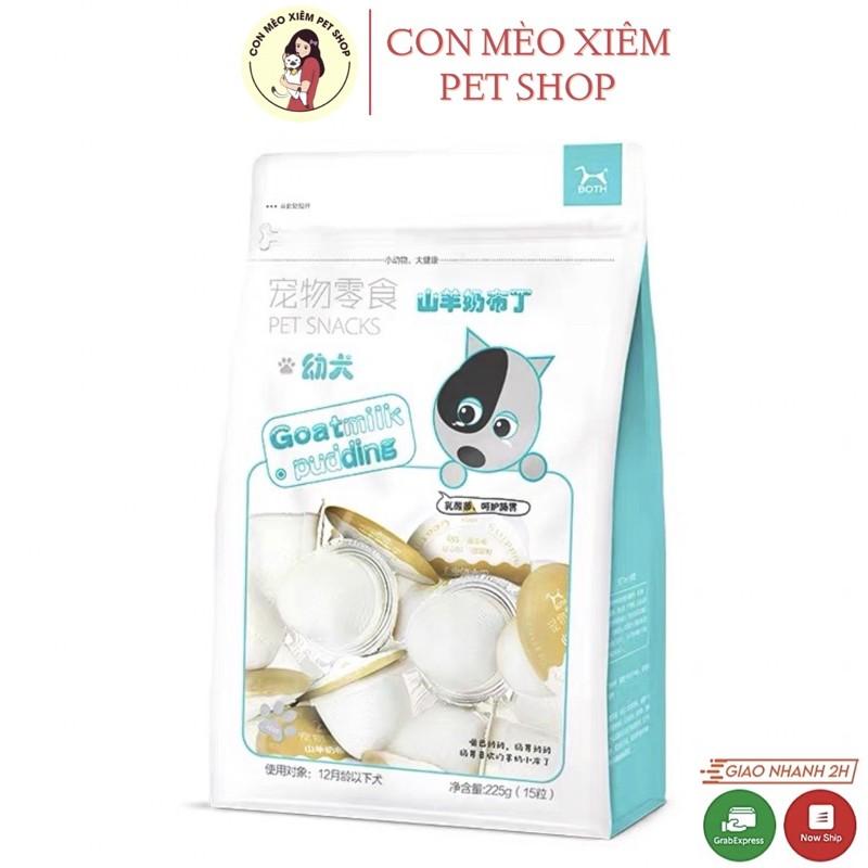 Pudding sữa dê cho chó bổ sung canxi- Thức ăn dinh dưỡng cho cún trưởng thành, chó nhỏ Con Mèo Xiêm - Chó nhỏ