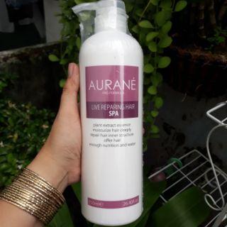 HẤP DẦU AURANE LIVE REPARING HAIR SPA DẦU DƯỠNG NGÂM TÓC HƯ TỔN, CHẺ NGỌN 750ml thumbnail