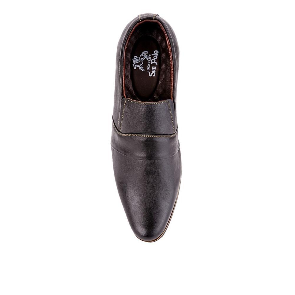 [Sale 3/3]Giày Tây Nam Da Bò SUNPOLO Đen Nâu - SUS249DN -x13