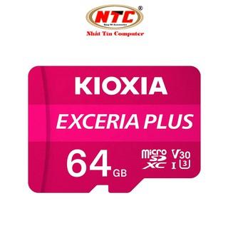 Thẻ nhớ MicroSDXC Kioxia Exceria Plus 64GB U3 4K V30 A1 R100MB/s W65MB/s (Tím)