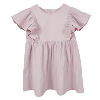 Đầm Babydoll Tím Hồng tay cánh tiên