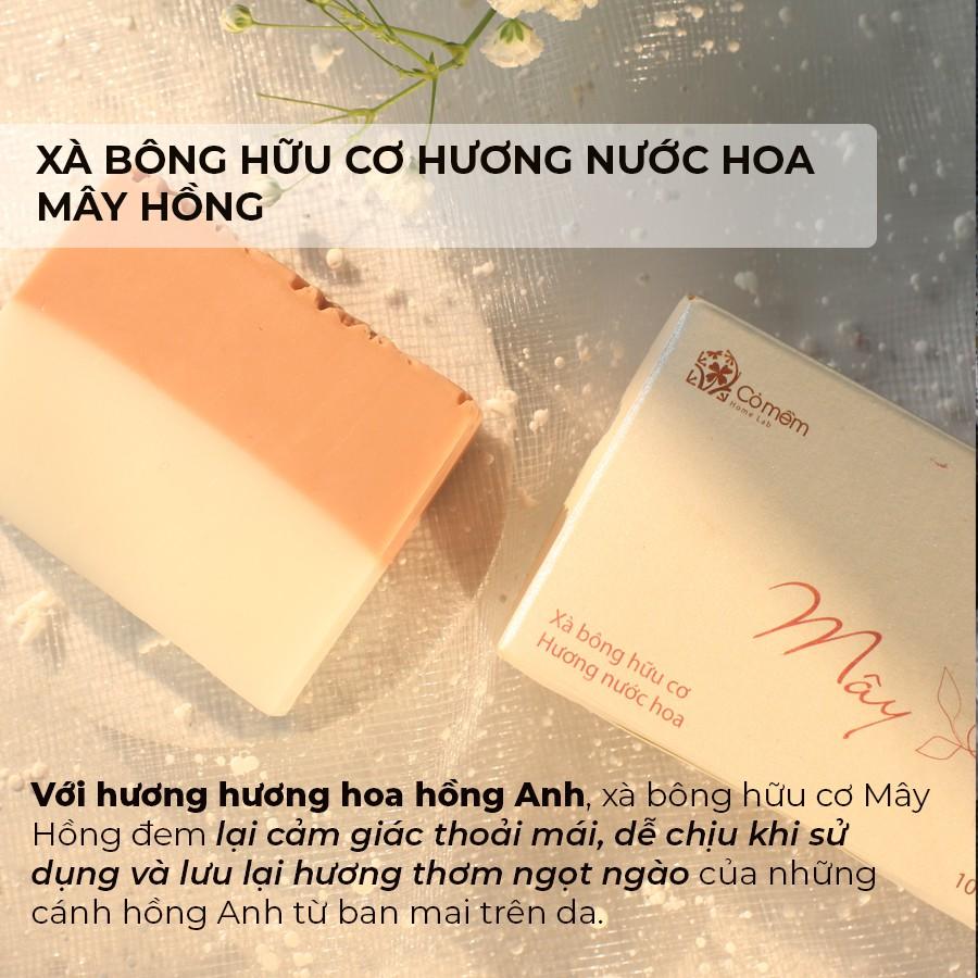 Xà Bông Tắm Và Rửa Mặt Hữu Cơ Hương Nước Hoa An Toàn Từ Thiên Nhiên Cỏ Mềm 100g