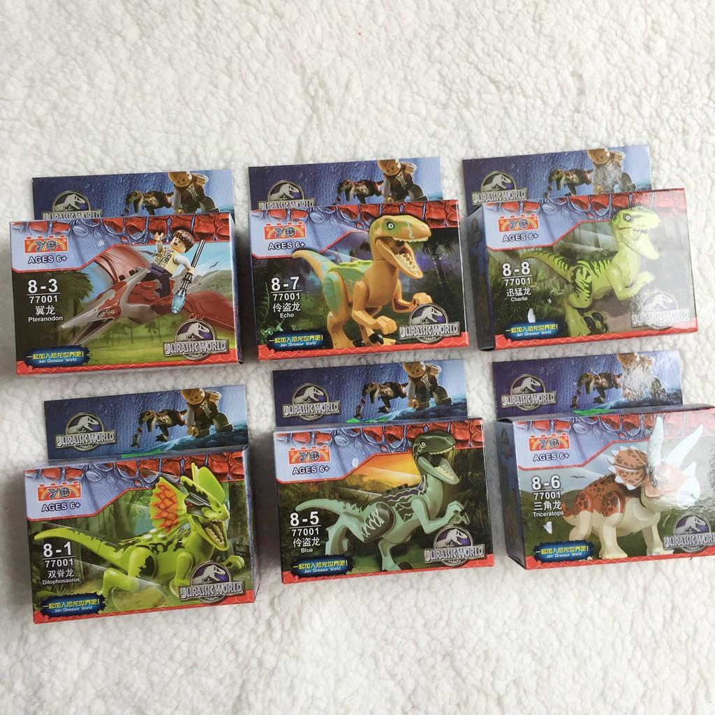 Combo 6 lego thế giới khủng long