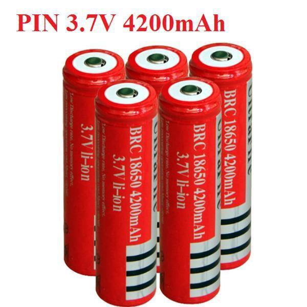 ⚡ Pin Cell 18650 3,7v - Pin cell Đỏ Sạc Dành Cho Quạt Mini 3 Tốc Độ - Quạt Cầm Tay , đèn pin siêu sáng. V.v ⚡