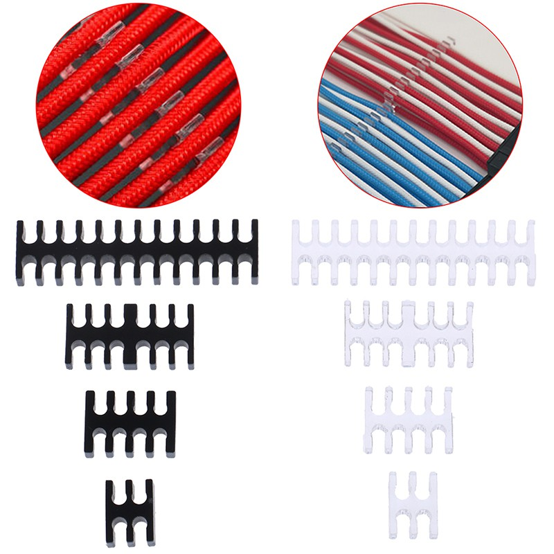 🌸ĐẦY ĐỦ 🌸Cable Comb/Clamp/Clip/Dresser For 2.5-3.0mm 4/8/12/24 Pin Sleeving Cables