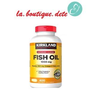 [Bill Mỹ] Dầu Cá Kirkland Signature 1000 Mg 400 Viên Nắp Đỏ Ổn Định Huyết Áp Tim Mạch