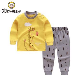 KidSheep 2PCS Cậu bé Áo pull và quần Bộ trang phục Sơ sinh cho trẻ sơ sinh Bộ quần áo mùa thu dài tay cho bé Bộ quần áo mùa thu cho trẻ em Bé hoạt hình Bộ quần áo Tees Pant