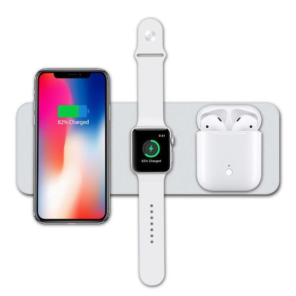 Đế sạc 3 In 1 cho điện thoại ,đồng hồ và tai nghe V3- Hàng chính hãng Devia