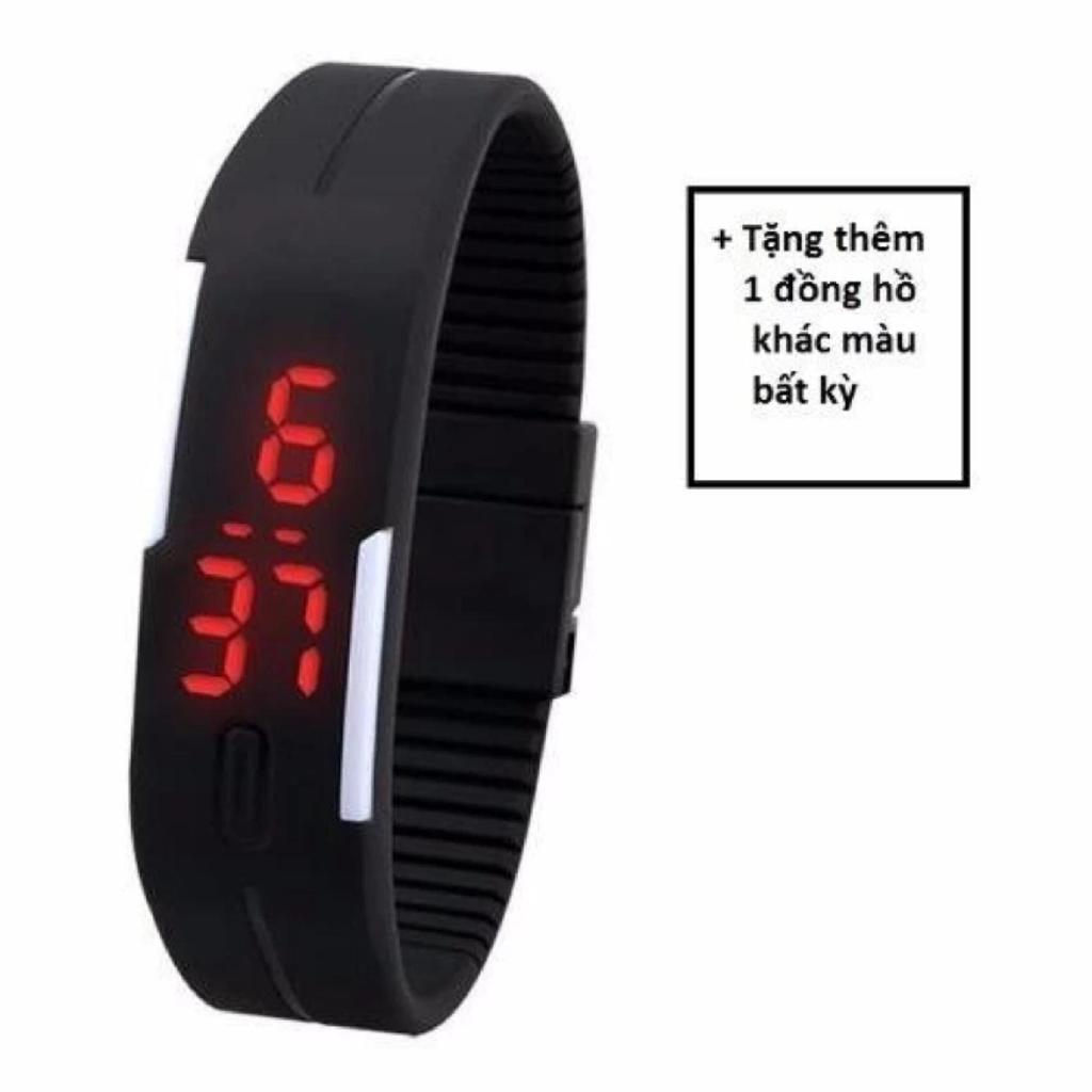 Đồng hồ nữ Sport LED kiểu dáng thể thao + tặng một đồng hồ khác màu bất kỳ  -DC1032+đồng hồ