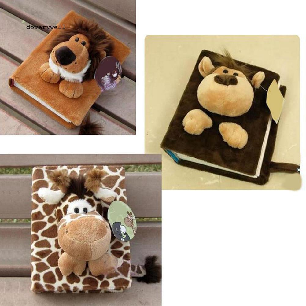 DYL_Plush Cartoon Animal Design 80 Pages Family Baby Photo Storage Card Holder Album