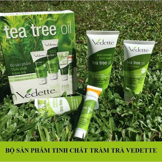 Bộ Dưỡng Da Ngừa Mụn Chiết Xuất Từ Tràm Trà Tea Tree Oil Vedette (Hộp 4 Tuýp) - 0514991