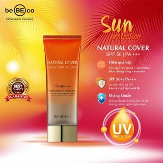 Kem chống nắng dạng nền BEBECO NATURAL COVER FACE SUN BLOCK Spf 50+/ PA +++