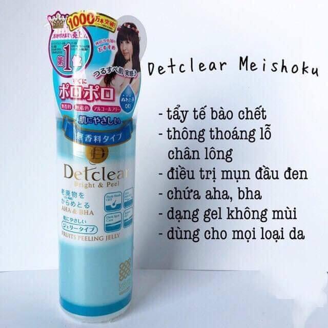 Tẩy da chết Detclear Bright & Peel Meishoku 180ml | Shopee Việt Nam