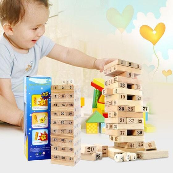 Bộ trò chơi rút gỗ 54 thanh- luyện khéo tay cho bé    VRG0079843