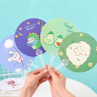 Quạt cầm tay nhỏ hình tròn họa tiết hoạt hình xinh xắn thumbnail