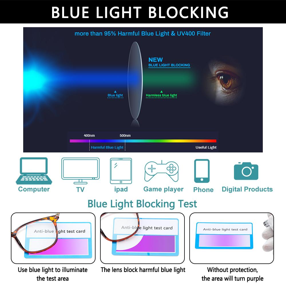 DIACHA Women & Men Blue Light Glasses Reading Gaming Glasses Blue Light Blocking Computer Glasses Fashion Anti Eye Eyestrain Square...