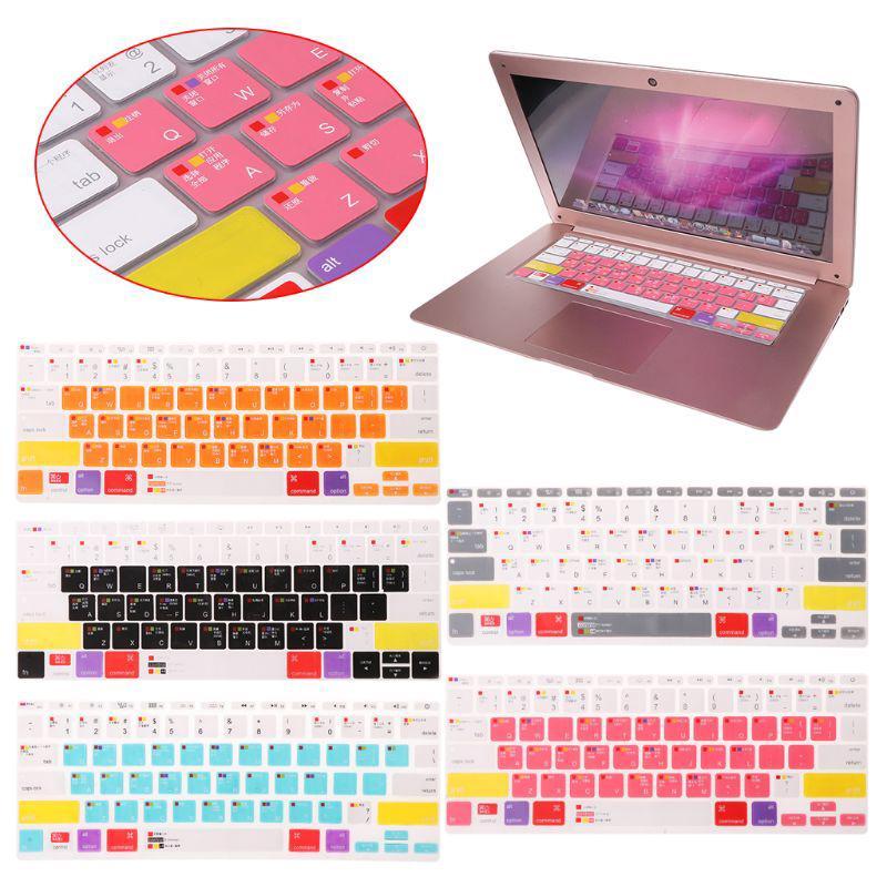 Miếng Dán Bàn Phím Bằng Silicone Nhiều Màu Cho 13 15 17 Macbook Laptop thumbnail