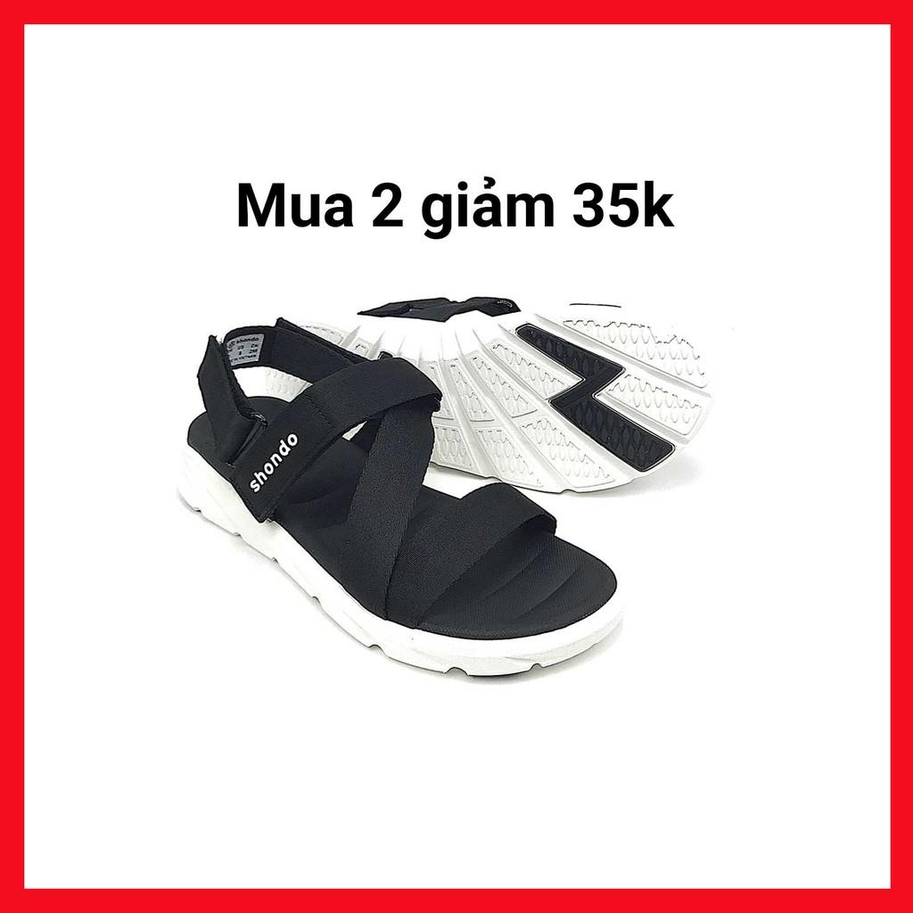 Giày Sandals SHONDO F6 Sport – F6S003-Đen Trắng