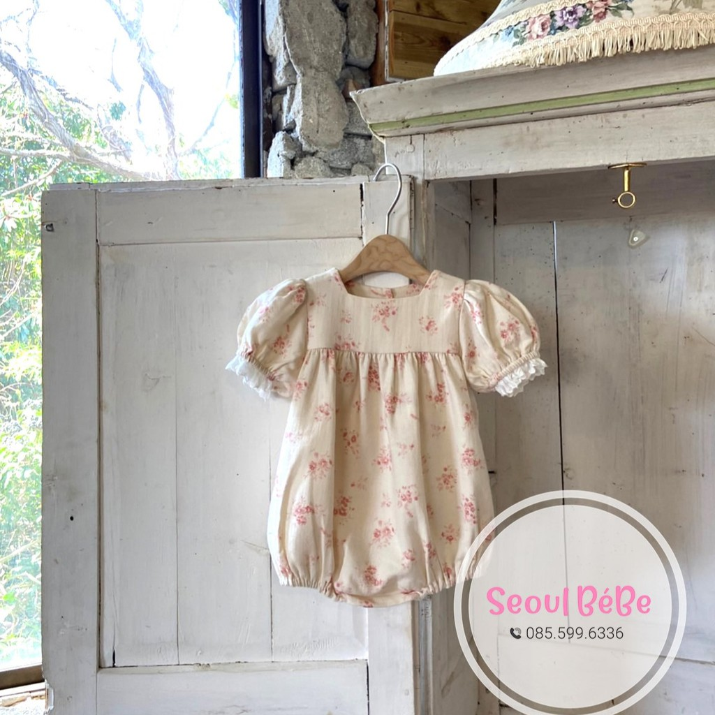 Bộ AnneShirley suit Jasmine hoa tay ren điệu đà dành cho bé gái made in Korea