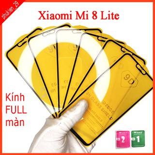 Kính cường lực Xiaomi Mi 8 Lite full màn hình, Ảnh thực shop tự chụp, tặng kèm bộ giấy lau kính taiyoshop2 thumbnail