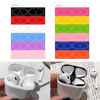 Set 6 cặp nhãn dán bảo vệ mặt trong hộp sạc tai nghe AirPods