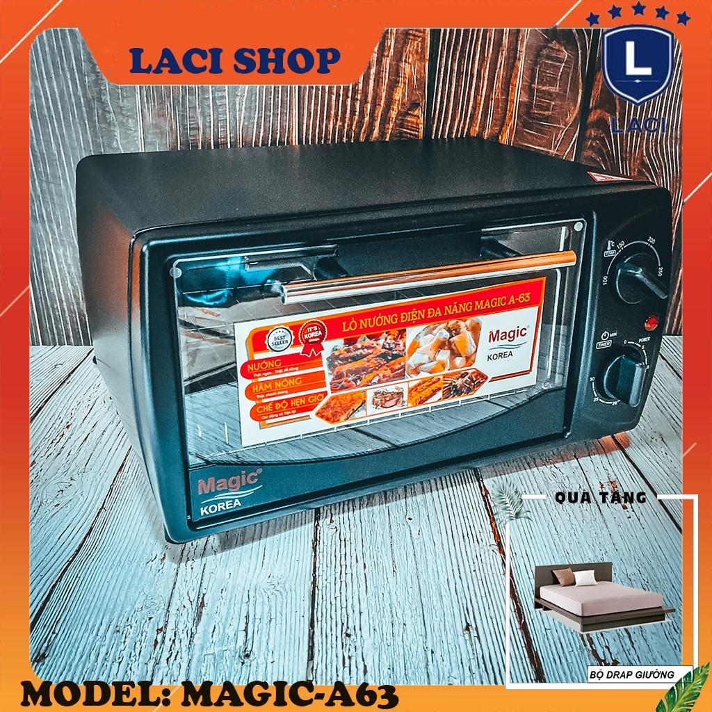 Lò nướng điện tích hợp magic korea A63 | dung tích 12L | công suất 1000W |  Tặng Bộ Drap - Lò vi sóng