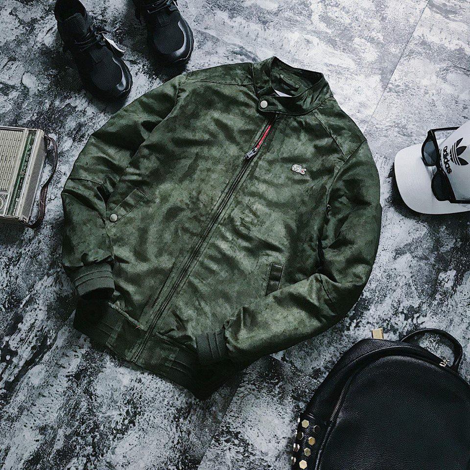 SALE mạnh áo khoác xuất khẩu da lộn trần bông 3 lớp cưc kỳ sang chảnh thương hiệu cá sâu