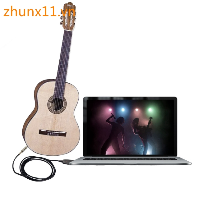 3m USB Interface Male to 6.35mm Electric Guitar Converter Cable Studio Audio Cable Guitar Computer
