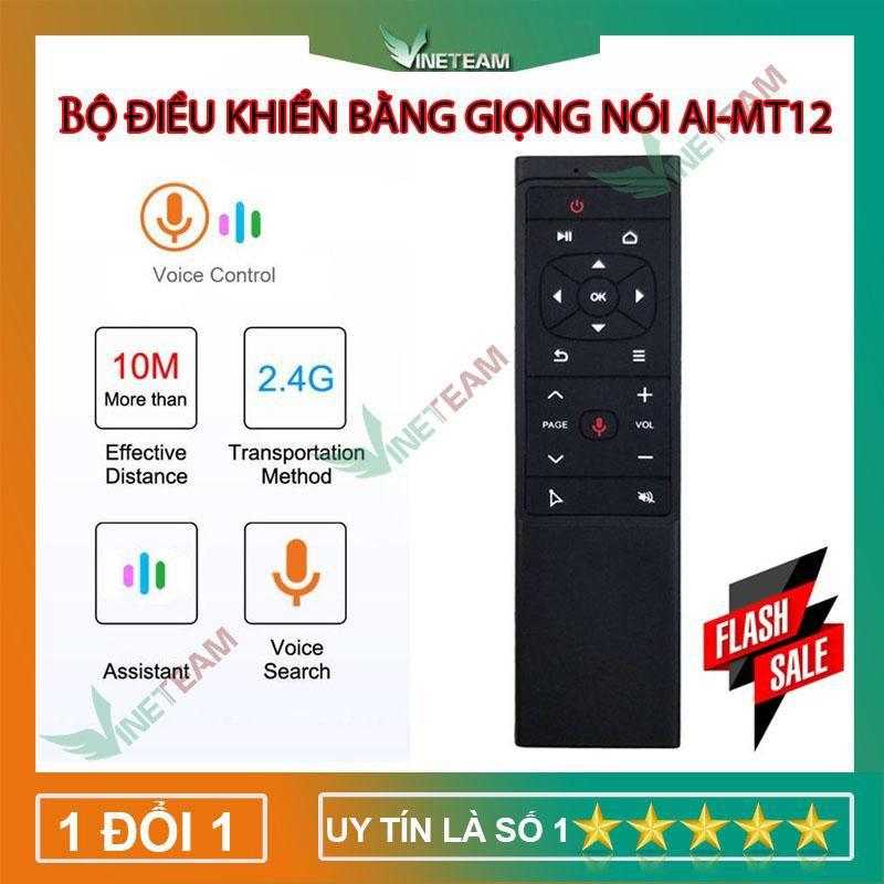 Bộ điều khiển tivi từ xa không dây tích hợp hồng ngoại cao cấp 2.4G - Điều khiển bằng giọng nói AI MT12 -DC4006