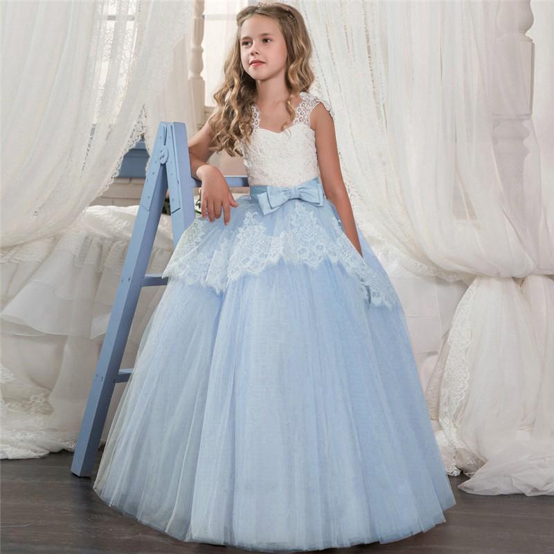 WFRV Đầm xòe công chúa phối ren cho bé gái 6-14 tuổi
